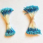 Материалы для творчества handmade. Livemaster - original item Stamen color blue. Handmade.