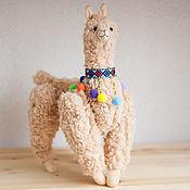 handmade. Livemaster - original item Alpaca toy al Pacino stuffed llama toy. Handmade.