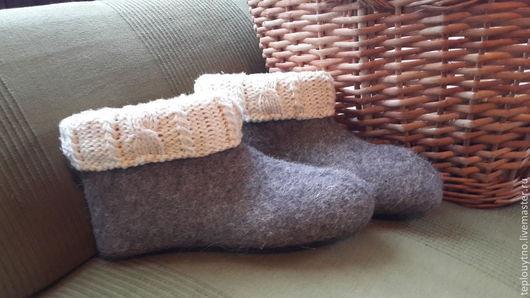 Обувь ручной работы. Ярмарка Мастеров - ручная работа. Купить Валенки для дачи. Handmade. Валенки для дома, обувь для дома