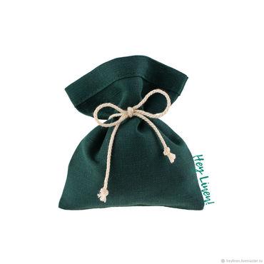 Souvenirs and gifts handmade. Livemaster - original item 10h12sm10sht. Bags of linen fir-tree, dark green. Handmade.