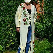 """Одежда ручной работы. Ярмарка Мастеров - ручная работа Кардиган """"Алые маки"""". Handmade."""