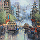 San Francisco. Painting in the technique of partial embroidery. Ready embroidery, Pictures, Chelyabinsk,  Фото №1