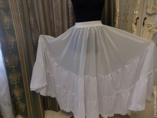 Юбки ручной работы. Ярмарка Мастеров - ручная работа. Купить Нижняя юбка. Handmade. Белый, пошив на заказ, стиль бохо