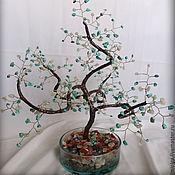 Подарки к праздникам ручной работы. Ярмарка Мастеров - ручная работа Дерево счастья Лунная бирюза. Handmade.