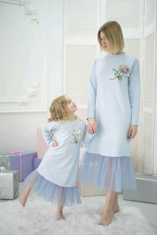 bf3b870f873 ... Вечерние платья фемилилук в одном стиле для Мамы и дочки. Фэмили лук    Family look ручной работы. Ярмарка Мастеров - ручная работа. Купить  Вечерние ...