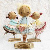 Куклы и игрушки ручной работы. Ярмарка Мастеров - ручная работа Три маленькие феечки. Handmade.