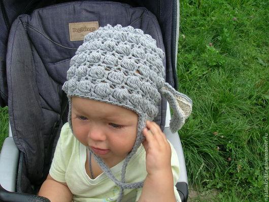 """Для новорожденных, ручной работы. Ярмарка Мастеров - ручная работа. Купить Шапочка """"Овечка"""". Handmade. Серый, шапочка для девочки, фотосъемка"""
