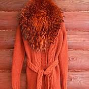 """Одежда ручной работы. Ярмарка Мастеров - ручная работа Пальто вязаное """"Терра"""". Handmade."""