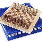 Активный отдых и развлечения handmade. Livemaster - original item Jasper and Shell stone chess 26, PakShah. Handmade.