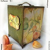 """Для дома и интерьера ручной работы. Ярмарка Мастеров - ручная работа Короб """"Физалис"""". Handmade."""