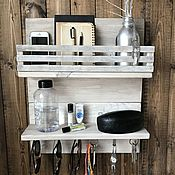 Для дома и интерьера handmade. Livemaster - original item Rack-mounted hook key holder. Handmade.