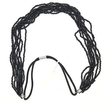 Украшения ручной работы. Ярмарка Мастеров - ручная работа Повязка для волос из бисера. Handmade.