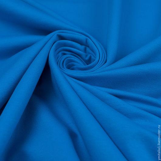 Шитье ручной работы. Ярмарка Мастеров - ручная работа. Купить Трикотаж -футер хлопковый темно-голубой Deha. Handmade. Трикотаж