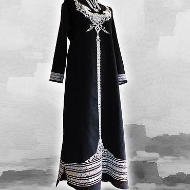 Русский стиль ручной работы. Ярмарка Мастеров - ручная работа Льняное платье Гиневра. Handmade.