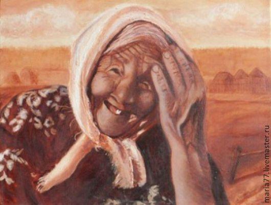 холст 1 . портрет бабушки