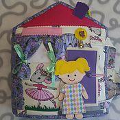handmade. Livemaster - original item dollhouse. Educational soft book. Handmade.