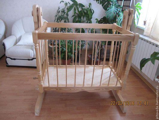 Мебель ручной работы. Ярмарка Мастеров - ручная работа. Купить Кроватка детская. Handmade. Бежевый, кровать детская