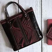 Женская сумка - Yulada Bag Bordo - m