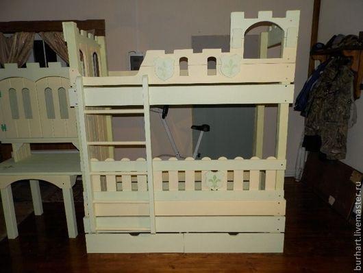 """Детская ручной работы. Ярмарка Мастеров - ручная работа. Купить Набор детской мебели """"Замок"""". Handmade. Салатовый, мебель из дерева"""