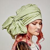 Аксессуары handmade. Livemaster - original item Convertible turban of pistachio cotton. Handmade.