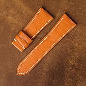 Украшения handmade. Livemaster - original item Calf leather watchband (17). Handmade.