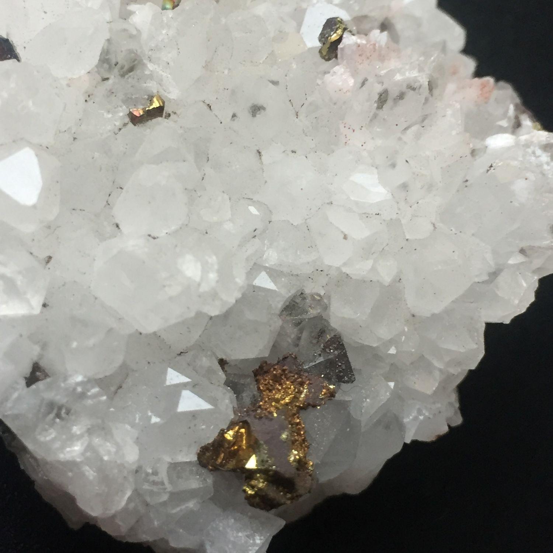 quartz with pyrite, Druse, Krasnodar,  Фото №1