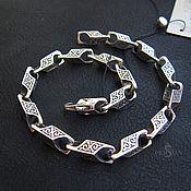 Украшения handmade. Livemaster - original item Chain bracelet: Silver bracelet with a large link. Handmade.