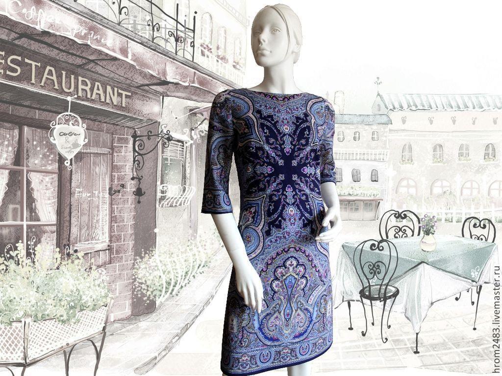 Dress 'Spanish dance' from Pavlogoradsky shawls ', Dresses, Moscow,  Фото №1