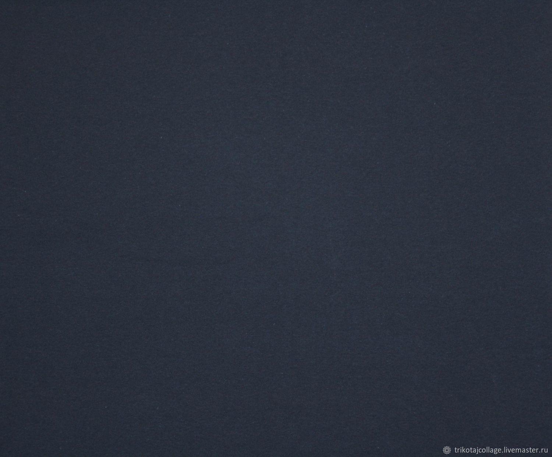 "Трикотаж рибана ""Тёмно-синий"", Ткань, Москва, Фото №1"