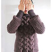 Одежда handmade. Livemaster - original item Chocolate mood SWEATER IN Merino wool. Handmade.