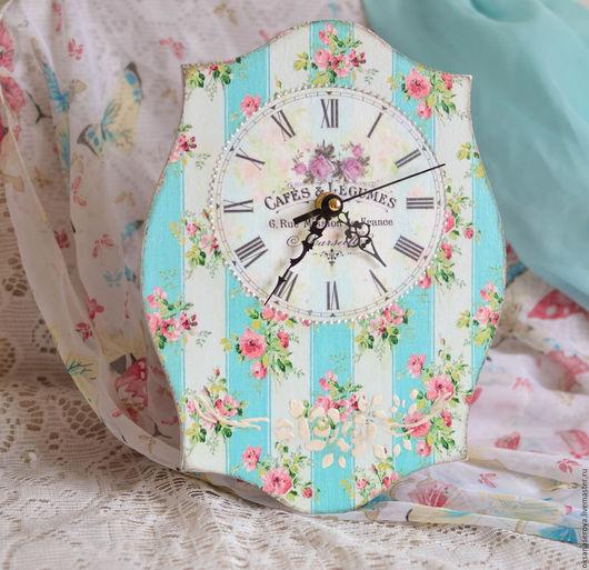 """Часы для дома ручной работы. Ярмарка Мастеров - ручная работа. Купить Часики """" Нежность"""". Handmade. Часы настенные"""