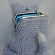 Вязание ручной работы. МК кошелёк котёнок. Орлова Светлана (osa2905). Ярмарка Мастеров. Серый, фермуар для кошелька
