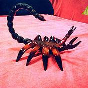 Для дома и интерьера ручной работы. Ярмарка Мастеров - ручная работа статуэтка Скорпион из дерева. Handmade.
