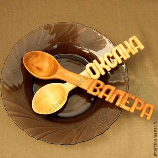 Ложки ручной работы. Ярмарка Мастеров - ручная работа. Купить Деревянная ложка. Handmade. Оранжевый, деревянная ложка, сувенир