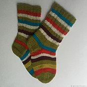Работы для детей, handmade. Livemaster - original item Socks Find the 7 differences! from the Italian wool. Handmade.