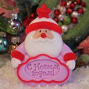 """Подарки к праздникам ручной работы. Ярмарка Мастеров - ручная работа Мыло """"Дед Мороз"""". Handmade."""