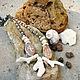 """Колье, бусы ручной работы. Ярмарка Мастеров - ручная работа. Купить Колье """"Галапагосы"""" с кораллами, ракушками и агатами.. Handmade. Бежевый"""