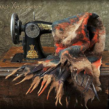 """Аксессуары ручной работы. Ярмарка Мастеров - ручная работа Валяный шарф """"Осень"""". Handmade."""