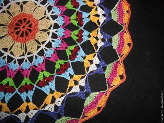 Текстиль, ковры ручной работы. Ярмарка Мастеров - ручная работа. Купить Салфетка Настроение. Handmade. Разноцветный, цветная