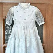 Работы для детей, ручной работы. Ярмарка Мастеров - ручная работа Нарядное платье со стразами. Handmade.