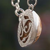Украшения ручной работы. Ярмарка Мастеров - ручная работа Кулон из серебра с окаменелым морском ежом Морской. Handmade.