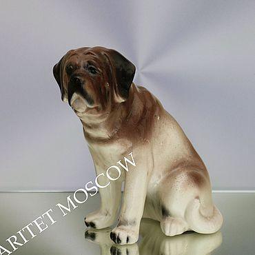Винтаж. Ярмарка Мастеров - ручная работа Собака мастиф фарфор статуэтка Англия 39. Handmade.