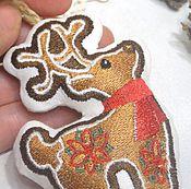 Подарки к праздникам ручной работы. Ярмарка Мастеров - ручная работа Елочная игрушка Рождественский олень Украшение елку Новогодний сувенир. Handmade.