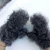 Аксессуары handmade. Livemaster - original item Gloves down curly. Handmade.