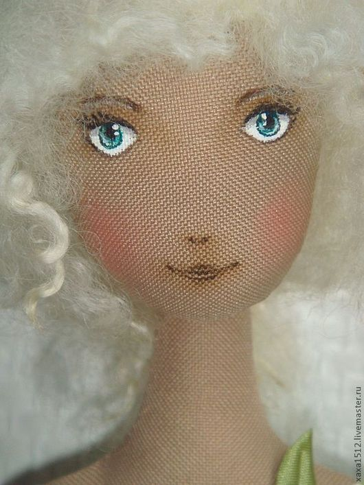 Коллекционные куклы ручной работы. Ярмарка Мастеров - ручная работа. Купить Мишель-веснянка. Handmade. Мятный, блондинка, кружево