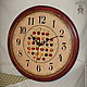 """Часы для дома ручной работы. Ярмарка Мастеров - ручная работа. Купить Часы """"Черешня"""". Handmade. Вишня, ягоды, вкусный, сосна"""