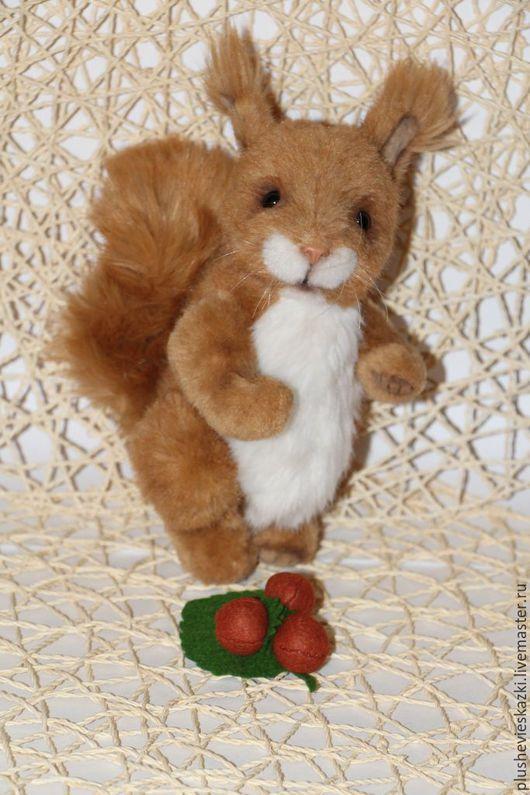 Мишки Тедди ручной работы. Ярмарка Мастеров - ручная работа. Купить Белка Орешка. Handmade. Тедди, тедди медведи, белочка