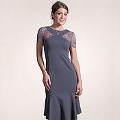Одежда ручной работы. Ярмарка Мастеров - ручная работа 245: летнее платье кружевное, платье с воланом, платье с кружевом. Handmade.