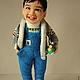 Портретные куклы ручной работы. портретная кукла мальчик Хо. Диана Грант (zumzum-latvija). Ярмарка Мастеров. Малышу, шерсть
