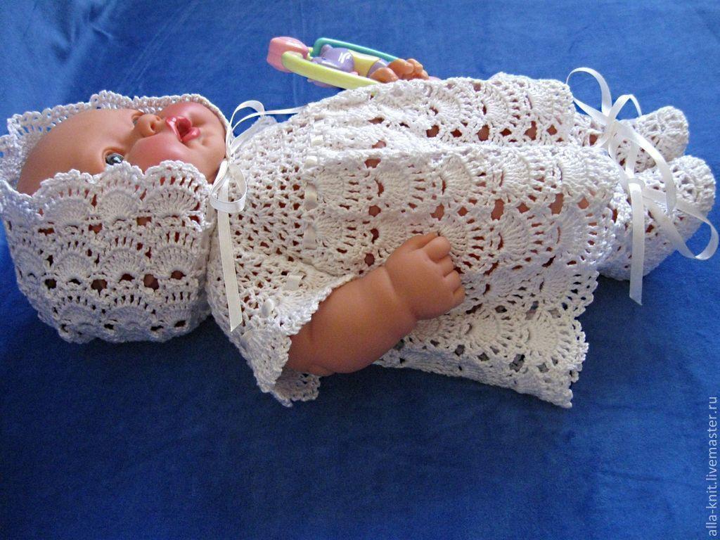 Вязание для новорожденных крючком с фото 470